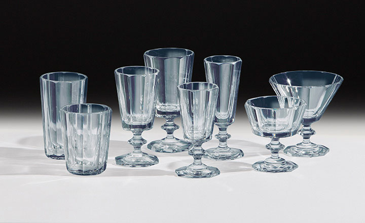 Crystal glasses, mouth-blown, hand-sanded, made in Germany